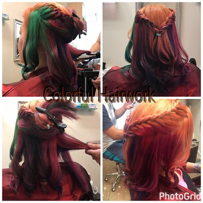 herbal hair dye salon